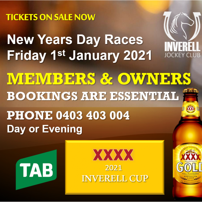 XXXX GOLD INVERELL CUP DAY UPDATE