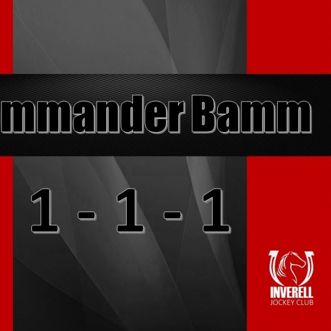 Commander Bamm gets the Hat Trick